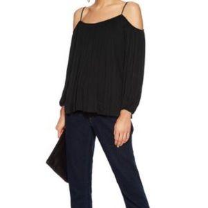 Anthropologie cold shoulder blouse